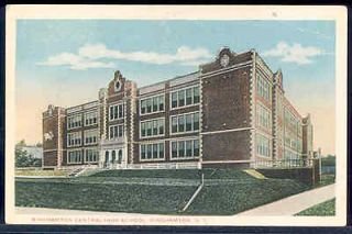 NY, Binghamton, New York, Central High School, Exterior View