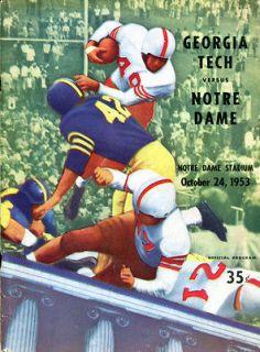 1953 Georgia Tech v Notre Dame Football Program Frank Leahy Bobby Dodd
