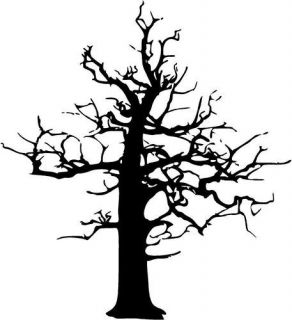 LARGE 6ft Leafless Tree Vinyl Wall Decal