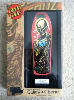Santa Cruz Old School Tech Deck Hand Skateboard Collector Kendall