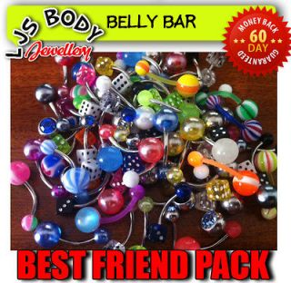 Ljs 20 Piece BEST FRIEND Belly Pack Mixed Gem, Glow, Uv, Pearl