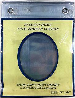 EXTRA LONG 70 x 84 CLEAR SHOWER CURTAIN Liner decor vinyl
