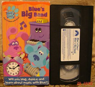 Blues Clues BLUES BIG BAND~Video VHS~ $3 to SHIP 1 & 50 Cents for