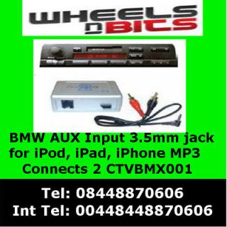 BMW E46, E39, E38, E53 Aux In  iPod iPad iPhone Interface Adaptor