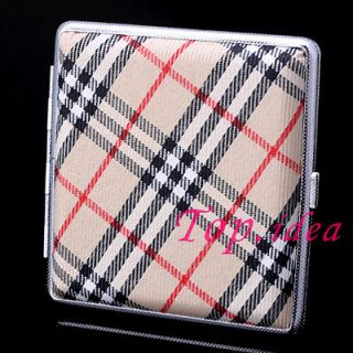 BROWN BLK RED NET CLOTH NEW WOMENS MESS CIGARETTE CASE BOX HOLDER