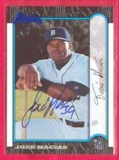 Jose Macias Detroit Tigers 1999 Bowman Signed Card