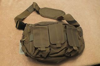 Bail Out Bag Shoulder Pack Tactical Shooting Military Range Tan new