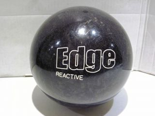 BRUNSWICK EDGE REACTIVE URETHANE BOWLING BALL 15LBS BLACK PEARL