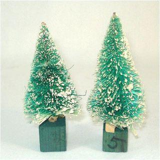 Japan Snow Flocked 4 Inch Christmas Bottle Brush Trees