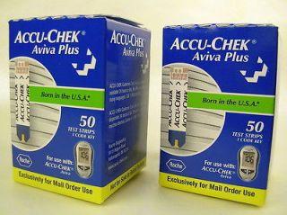 ACCU CHEK Aviva Plus Blood Glucose Diabetic TEST STRIPS Exp 4/2013 #1