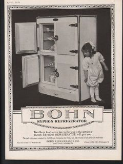 1921 BOHN REFRIGERATOR ICE BOX KITCHEN DECOR ST PAUL MINNESOTA HOME