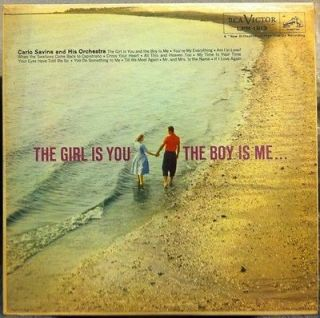 CARLO SAVINA girl is you the boy is me LP VG+ LPM 1913 Vinyl 1959