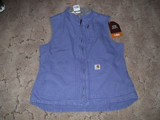 CARHARTT womens sandstone VEST, plum, sherpa lined, NEW with tags