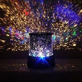 2xBlack Romantic Sky Star Master Projector Lamp LED Night Light With