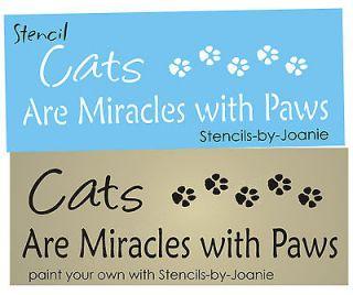 Miracles Paw Print Border Animal Tracks Kitty U Paint Pet Art Signs