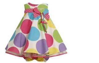 Bonnie Jean Baby Girls Multi Color Polka Dot 1st_2nd Birthday Dress