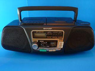 SHARP QT CD131 AM/FM Radio Cassette CD Player Boombox TESTED @@Pics