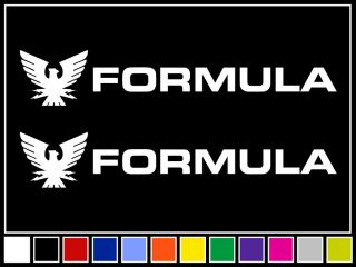 12 FORMULA BOATS Decals *WHITE* Vinyl Stickers Boat Outboard Motor