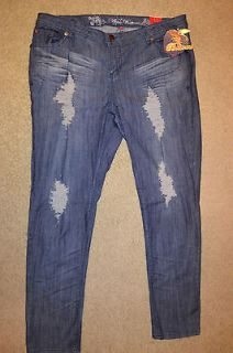 Apple Bottoms Skinny Leg Ripped Womens Jeans Size 20 Retail $79.00