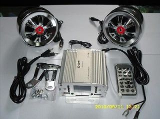 250w Motorcycle audio system w/huge lcd +remote +sd cr