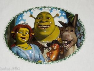 NEW SHREK AND FIONA THIN PLASTIC CAKE TOPPER / WALL DECORATION 14 x