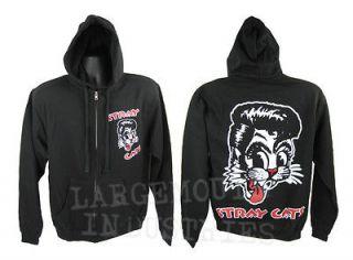 Stray Cats Brian Setzer Rockabilly Black Shirt Zip up Hoodie