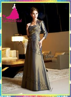 Mother of Bride Dresses Taffeta Wedding Party Bridal Ball Gown Formal