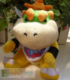 NEW ARRIVAL SUPER MARIO BROS. Kids Bowser Jr. 7 FUNNY PLUSH TOY DOLL