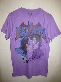 Batman Brand Purple Graphic T Shirt Batman & Joker for Mens Small NEW