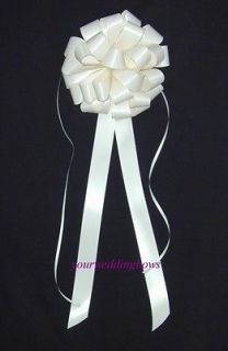 IVORY WEDDING PEW BOWS *SPECIAL* BETTER THAN PULL BOWS