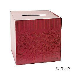 12 Wedding Card Box Anniversary Keepsake Gift Card Box Christmas Party
