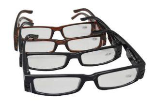 Multi Strength LED Reading Glasses Fashion Plastic LED Light Glasses