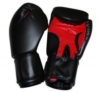 Black 16oz plain Boxing Training Gloves everlast mma kickboxing muay