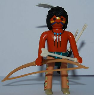 PLAYMOBIL SPECIAL RED INDIAN WITH Bow and ARROW   WESTERN SCENES