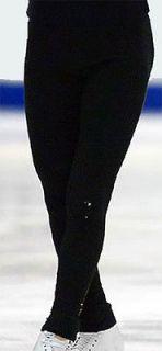 Ice figure skating practice pants dress skate polar fleece trousers