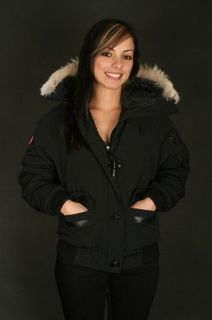 CANADA GOOSE WOMEN XS CHILLIWACK BOMBER WINTER JACKET COAT BLACK 100%