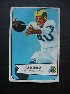 NFL 1951 Bowman card of Elroy Hirsch with the Los Angeles Rams card