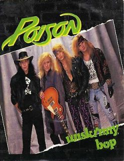 POISON unskinny bop bret michaels heavy metal guitar band glossy t