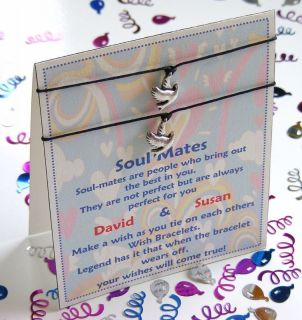 personalised soul mate wish bracelet duo card gift from united