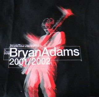 Bryan Adams  NEW 01/02 Tour T Shirt XLarge $15.00 SALE