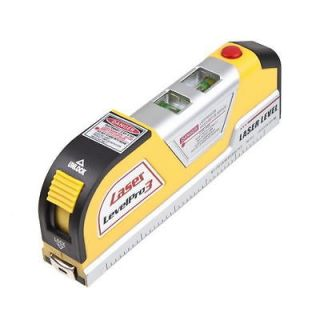LV02 Laser Level Horizon Vertical Measure Tape 8FT Aligner