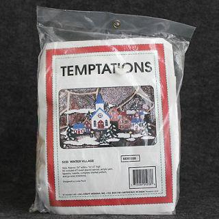 Village Plastic Canvas Kit Temptations Christmas Needlepoint NOS