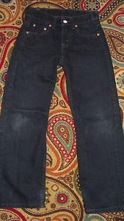 BOYS LEVIS 550 RELAXED FIT BLACK DENIM JEANS, SIZE 9 SLIM (MEASURES 25