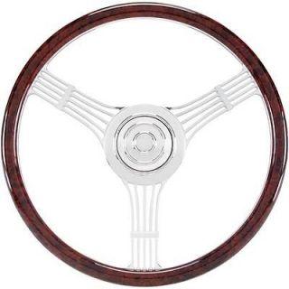 Billet Spec Steering Wheel Half Wrap Banjo Aluminum 3 Spoke 15.5 Dia