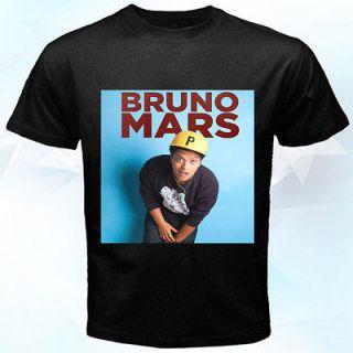 Bruno Mars limited black t shirt S, M, L, XL size #01