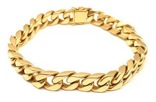ON TREND AUTHENTIC BVLGARI BULGARI 18K YELLOW GOLD CURB CHAIN LINK