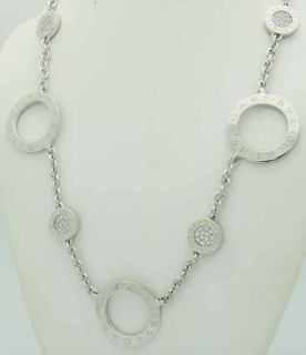Bvlgari Bulgari 18K White Gold Diamond Link Necklace