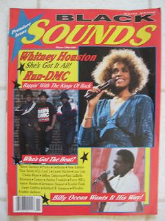 Premiere Issue BLACK SOUNDS Magazine 1986 Prince Whitney Houston Janet