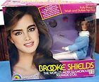 1982 Brooke Shields Doll with Black Velour Gown trimmed with Pink Net