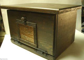 Vintage Handmade Wooden Bread Box